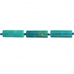 Agate Tube Beads - Blue