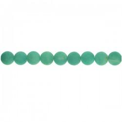Matt Amazonite Round Beads