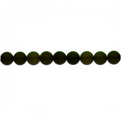 Matt Smoky Quartz Round Beads