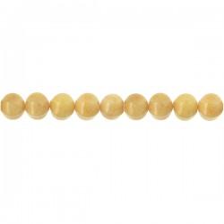 Yellow Jade Pumkin Beads