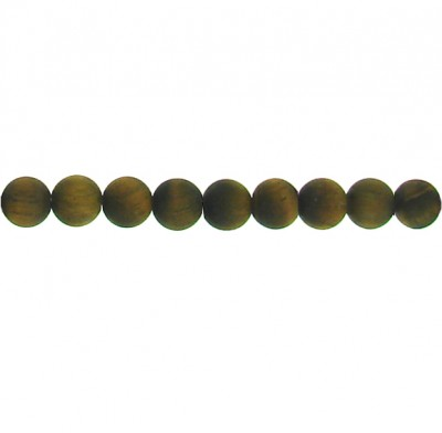 Matt Tiger Eye Round Beads