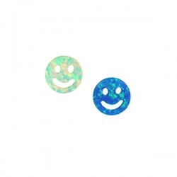 Synthetic Opal Happy Face 10mm