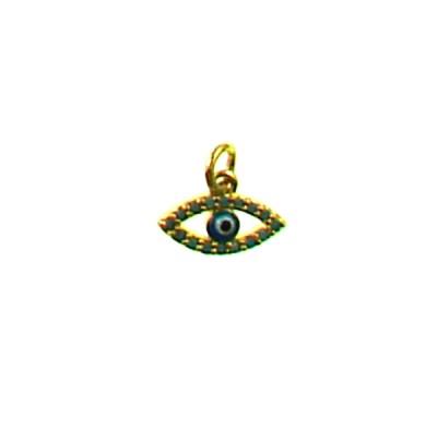 Brass Lucky Eye 8x12mm